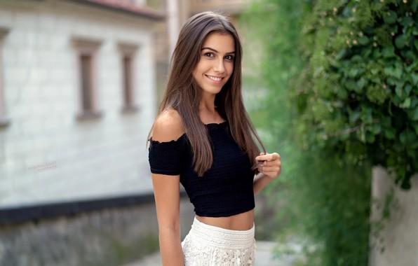 Картинка девушка, улыбка, шатенка, Angie, Robert Chrenka