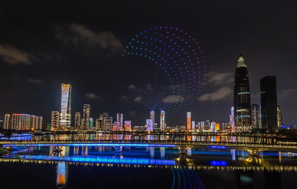 Картинка ночь, огни, панорама, Китай, Шэньчжэнь