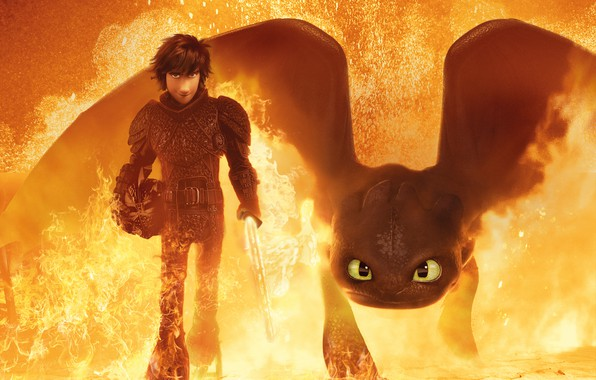 Картинка World, Action, Fantasy, Nature, Dragon, Fire, Wood, White, Train, The, Family, Gerard Butler, year, Boy, ...