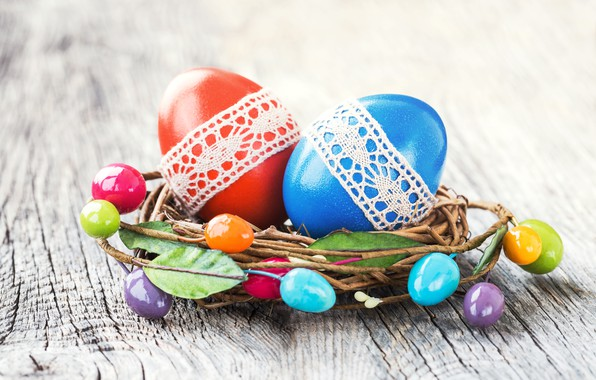 Картинка яйца, colorful, Пасха, happy, wood, Easter, eggs, decoration