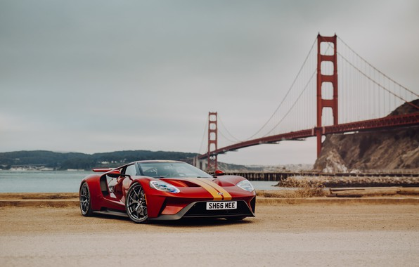 Картинка мост, Ford GT, спорткар