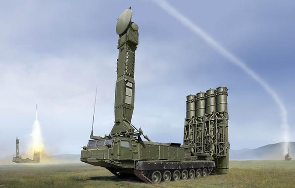 Картинка ПВО, Зенитный ракетный комплекс, ЗРС ПВО СВ, Антей-300В, С-300В