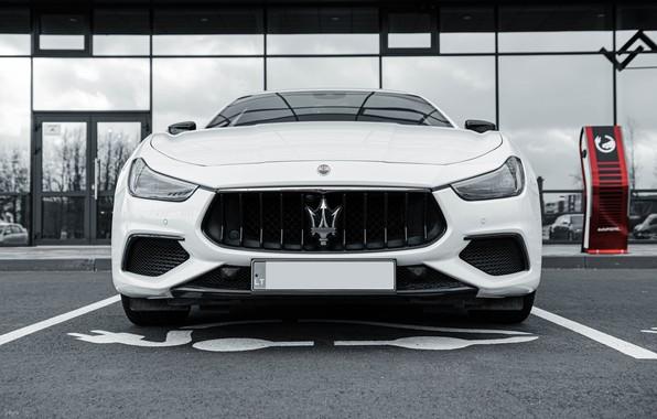 Картинка Maserati, Car, White, Italian, Maserati Ghibli, Ghibli, Italian Car