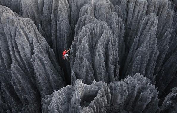 Картинка скалы, человек, альпинизм, Скалолазание