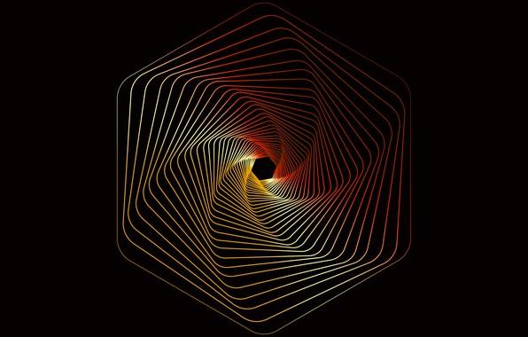 Картинка colorful, wallpaper, lines, hexagons, line colors, kingsmon