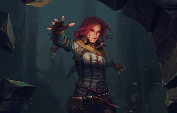 Картинка арт, magic, ведьмак, art, чародейка, witcher, Трисс Меригольд, Triss Merigold, Gwent: The Witcher Card Game, …