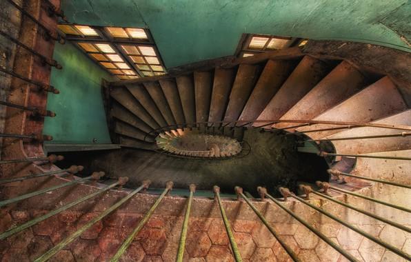 Картинка дом, окно, лестница