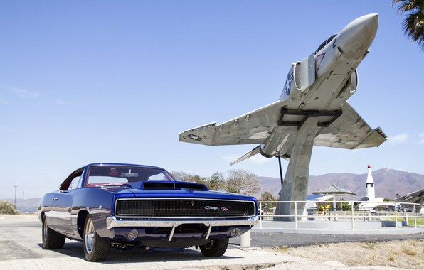 Картинка Muscle, Dodge, Car, Classic, Blue, Charger, Mopar, Aircarft