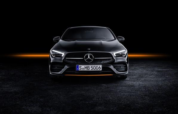 Картинка купе, Mercedes - Benz, Mercedes-Benz CLA, AMG Line, 2019, Мерседес - Бенц, Edition Orange Art