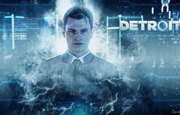 Картинка андроид, Detroit, Коннор, Детройт, Detroit Become Human