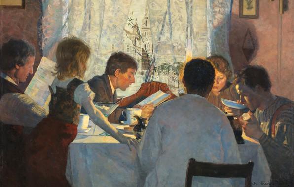 Картинка Норвегия, Norway, Осло, Oslo, норвежский живописец, 1885, Norwegian painter, oil on canvas, Национальный музей искусства …