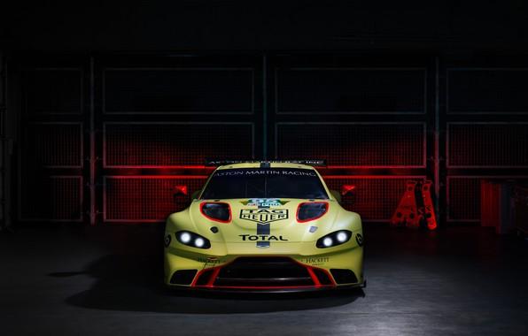 Картинка Aston Martin, Vantage, гоночное авто, вид спереди, 2018, GTE