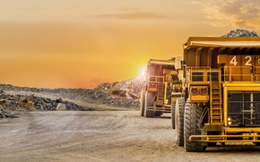 Картинка trucks, mine, mining