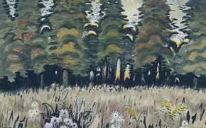 Картинка Charles Ephraim Burchfield, 1951-56, Trees in Meadow