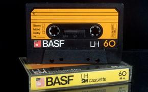 Картинка макро, музыка, кассета, BASF