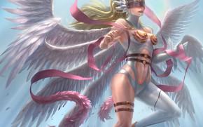 Картинка девушка, ангел, маска, League of Angels, Лига ангелов