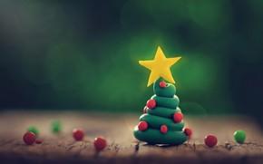 Картинка праздник, ёлка, пластелин