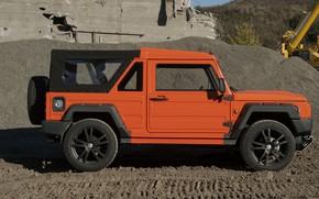 Картинка оранжевый, тень, внедорожник, профиль, 2011, 4x4, Travec, Tecdrah Integrale 1.5 TTi, Renault/Dacia Duster, рамный