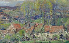 Картинка пейзаж, картина, Karl Albert Buehr, Карл Альберт Бюр, 1909-11, Дом Художника. Весна