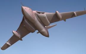 Картинка самолёт, model, Blender3D
