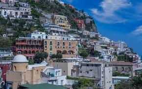 Картинка дома, склон, Италия, Позитано, Амальфитанское побережье