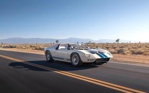 Картинка дорога, Roadster, водитель, 1965, Ford GT40, Prototype (GT108)