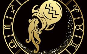 Картинка кувшин, знак зодиака, водолей