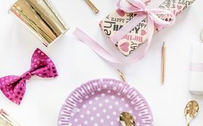 Картинка подарок, декор, Gift, День рождения, Ribbon, Birthday