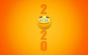 Картинка смайл, праздник, фон, New Year, Новый год, 2020