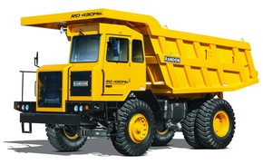 Картинка машина, грузовик, белый фон, жёлтый цвет