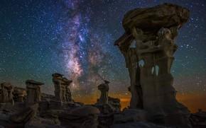 Картинка США, Нью-Мексико, Млейный Путь, De-Na-Zin Wilderness