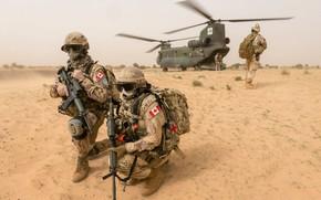Картинка оружие, армия, солдаты, CH-147 Chinook, Mali