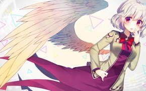 Картинка девушка, ангел, крыло