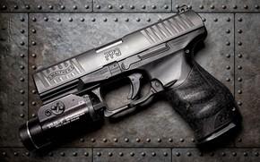 Картинка пистолет, фон, Walther Arms PPQ M1