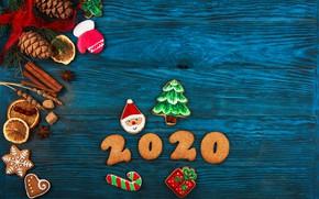 Картинка праздник, Новый год, композиция, пряности, пряники, 2020
