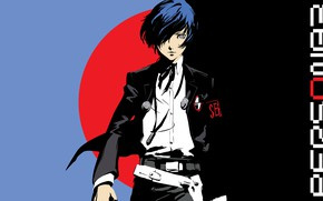 Картинка взгляд, парень, Persona 5, Персона 5