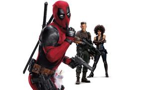 Картинка белый фон, персонажи, Deadpool 2, Дадпул