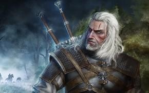 Картинка оружие, мужчина, Geralt of Rivia, Ведьмак 3: Дикая Охота