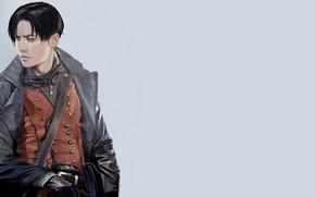 Картинка куртка, перчатки, парень, Shingeki No Kyojin, Атака титанов, Леви Аккерман, by redwarrior3