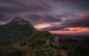 Картинка небо, закат, гора, Испания, Spain, Наварра, Navarre