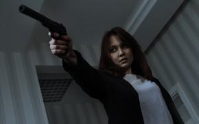 Картинка Яна Фролова, Олег Грицун, девушка, пистолет