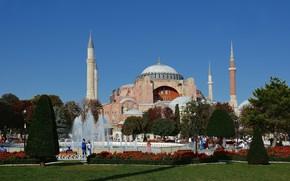 Картинка путешествие, Стамбул, Турция, Голубая мечеть
