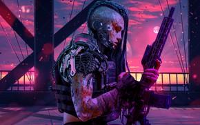 Картинка Purple, Sci FI, Retrowave, Women Warrior