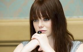 Картинка взгляд, макияж, актриса, hair, Emma Stone, Эмма Стоун