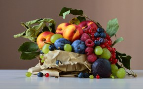 Картинка еда, фрукты, натюрморт, много, разные, композиция, ассорти