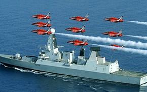 Картинка Англия, группа, Diamond, эсминец, пилотажная