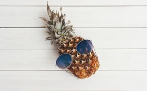 Картинка креатив, фон, настроение, юмор, очки, фрукт, ананас