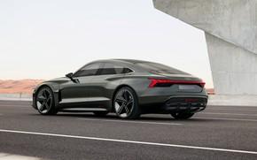 Картинка Audi, купе, шоссе, 2018, e-tron GT Concept, четырёхдверное