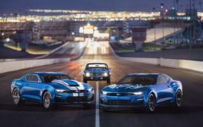 Обои Chevrolet, Camaro, 2018, 50th Anniversary, COPO, SEMA 2018, eCOPO Concept