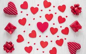 Картинка любовь, подарок, сердце, сердечки, red, love, heart, wood, romantic, valentine's day